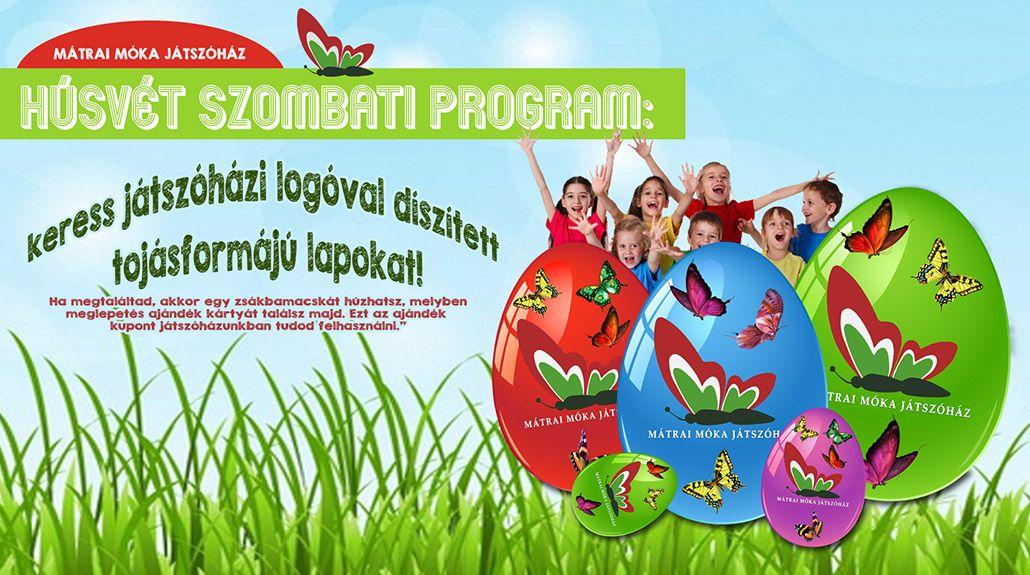 🐣 Húsvéti tojásvadászat a Mátrai Móka Játszóház és Szabadidőközpontban április 15-én szombaton, egész nap! 🐰
