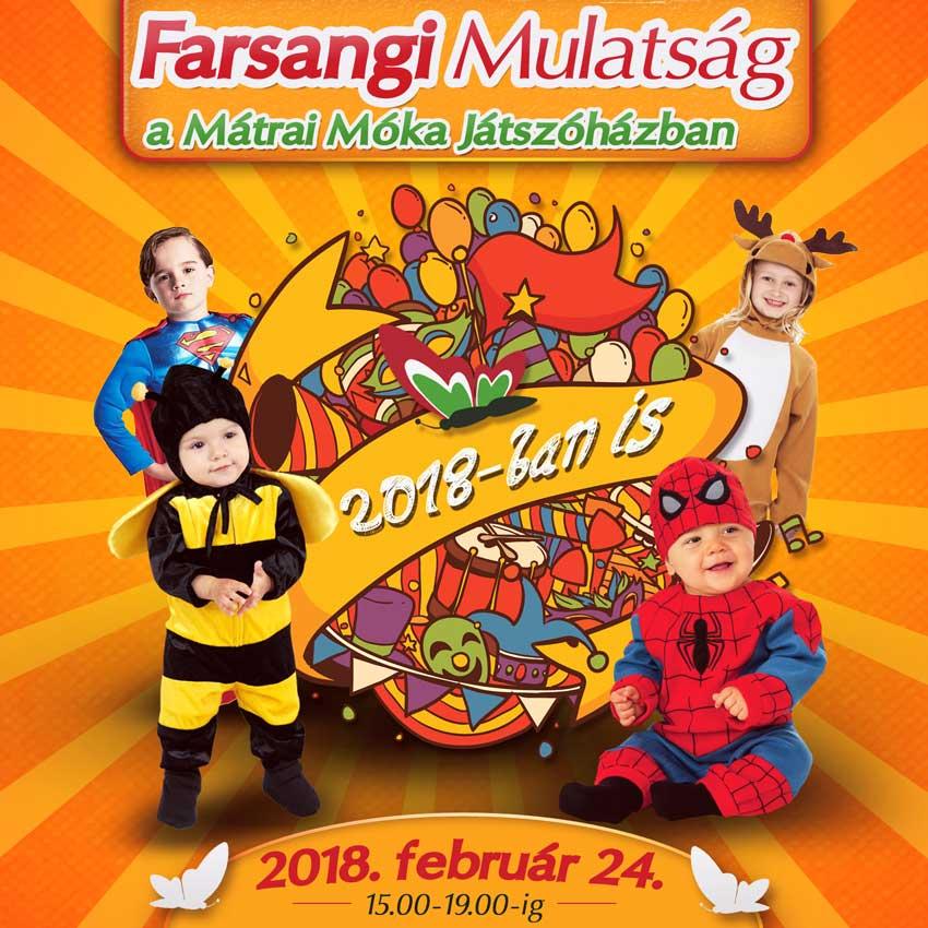 Farsangi Mulatság a Mátrai Móka Játszóház és Szabadidőközpontban!